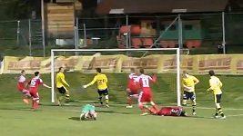 Fotbalisté v Rakousku trefili v krátkém čase třikrát brankovou konstrukci