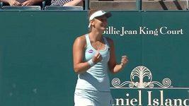 Z utkání Garciaová - Beguová na turnaji v Charlestonu