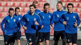Trénink fotbalistů Sparty před odvetou EL s Villarrealem