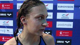 Barbora Záhlavová po finále 400 m polohově