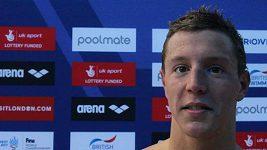 Jan Micka po osobním rekordu na 1500 metrů volný způsob.