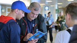 Přílet hokejistů z MS v Rusku