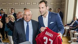 Přijetí české fotbalové reprezentace u starosty Tours