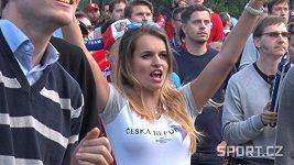Fanoušci sledovali remízu s Chorvatskem