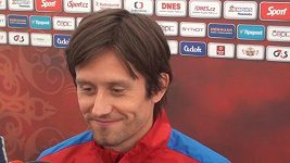 Zraněný Tomáš Rosický po zápase s Chorvatskem