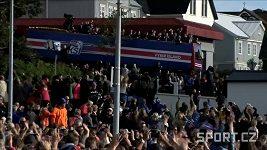 Triumfální návrat islandských fotbalistů