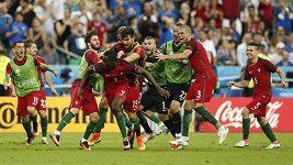 Portugalský komentátor oslavuje gól Édera
