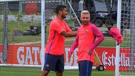 Blonďák Messi poprvé na tréninku