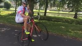 Cyklista Pavel Kelemen