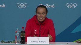 Martina Hingisová po 20 letech na olympiádě.