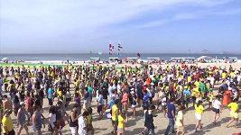 Plážový volejbal na Copacabaně