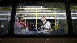 Po autobusu, který převážel novináře mezi olympijskými stanovišti v Riu, se střílelo