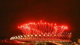 Závěrečný ohňostroj v Riu