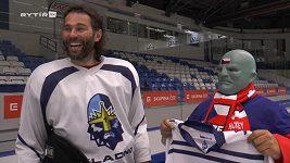 Setkání Jaromíra Jágra s hokejovým Fantomasem