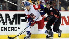 Čeští hokejisté porazili v přípravě na Světový pohár Výběr Severní Ameriky