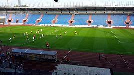 Utkání Ostravy s Českými Budějovicemi se hrálo před prázdnými tribunami