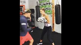 Maria Šarapovová boxuje