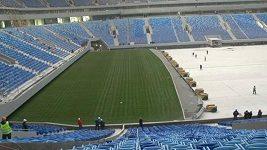 Zenit Arena v Petrohradu se připravuje na 2018 FIFA World Cup