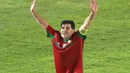 Diego Maradona v Maroku