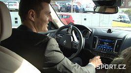 Jaroslav Kulhavý za volantem.