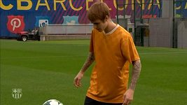 Justin Bieber trénoval s Neymarem a Rafinhou