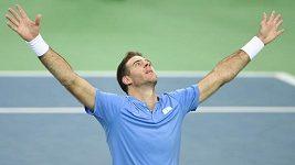 Del Potro srovnal finále Davis Cupu