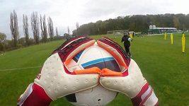 Trénink fotbalistů Bohemians s kamerou GoPro