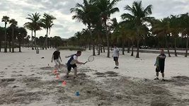 Andy Murray trénuje v Miami na novou sezónu.