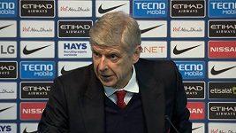 Arséne Wenger na tiskové konferenci po zápase Manchester City - Arsenal.