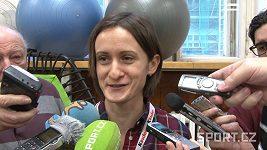 Martina Sáblíková mezi novináři