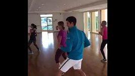 Novak Djokovič tancuje