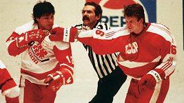 Rvačka na mistrovství světa v hokeji juniorů 1987 - Piešťany