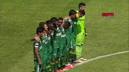 Fotbalisté Chapecoense sehráli první zápas po klubové tragédii