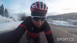 Biker Kulhavý trénuje na sněhu