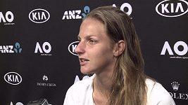 Plíšková po 1. kole Australian Open