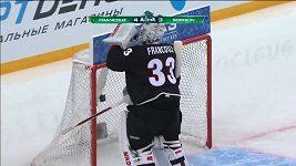 Pavel Francouz paroduje na Utkání hvězd KHL Gavrilova
