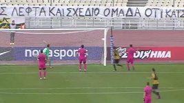 Pekhartův gól v utkání AEK - Asteras