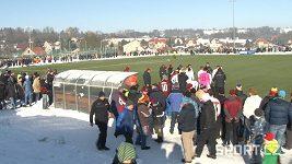 Fotbalové zápasy ve velkých mrazech