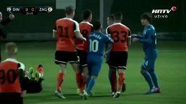 Přípravné fotbalové utkání mezi Záhřebem a Lubinem