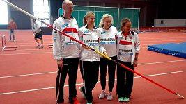 České tenistky si vyzkoušely atletické dovednosti