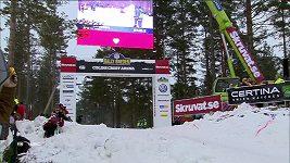 Suverénní lídr Švédské rallye Thierry Neuville z Belgie havaroval v závěru druhé etapy v superspeciální zkoušce.