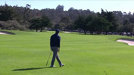 Sestřihy nejlepších golfových úderů na turnaji v americkém Pebble Beach
