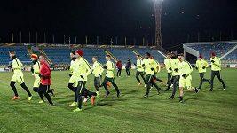 Trénink fotbalistů Sparty v Rostově