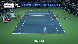 Sestřih zápasu Plíšková - Mladenovicová v Dubaji