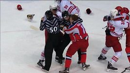 Rvačka v utkání CSKA Moskva - Jokerit