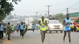 Maratonský běh v Kamerunu