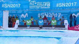 Premiérový týmový závod snowboardkrosařů na MS v Sieře Nevadě