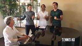 Roger Federer zpívá