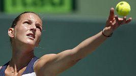 Plíšková s Kotyzou při semifinále v Miami