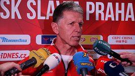 Trenér Slavie Jaroslav Šilhavý před derby